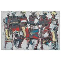 'Music Feast II' - Painting of African Musicians