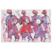 'Northern Dance' - Damba Festival Painting from Africa