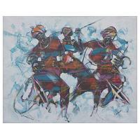 'Blue Jazz' (2014) - Jazz Women African Painting
