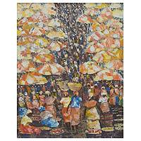 'Market People II' - Market Painting