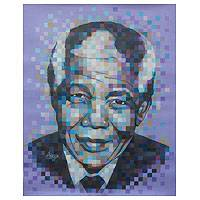 'Mandela' (2014) - Mandela Tribute Portrait Painting from Ghana