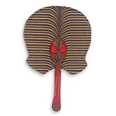 Hand Crafted African Ashanti Fan with Cotton and Wood