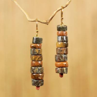 Soapstone beaded earrings, Aseda Ye