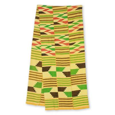 Cotton blend kente scarf, Inequality (3 strips)