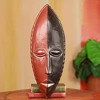 African wood mask, 'Inseparable'