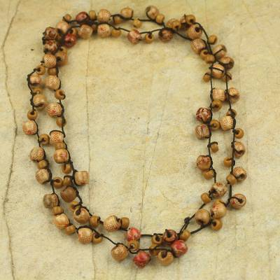 Beaded long necklace, Chakachaka