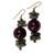 Soapstone and agate beaded earrings, 'Oboafo Ye Na' - Purple Agate and Soapstone Beaded Earrings from Ghana (image 2a) thumbail