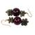 Soapstone and agate beaded earrings, 'Oboafo Ye Na' - Purple Agate and Soapstone Beaded Earrings from Ghana (image 2b) thumbail