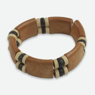 Recycled Plastic Wood Eco Friendly Bracelet from Africa