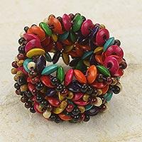 Wood stretch bracelet,