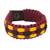Men's wristband bracelet, 'Inner Peace' - Men's African Burgundy Hand Woven Cord Bracelet with Yellow (image 2a) thumbail