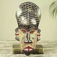 African wood mask, 'My Heart' - Hand Carved and Crafted Original African Mask