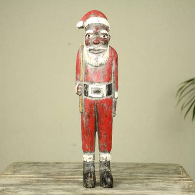 Wood Sculpture, Father Christmas