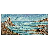 'The Storm is Over' - Original Seascape Painting with a Faith Message