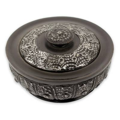 Ghanaian Hand Carved Decorative Wood Bowl and Lid