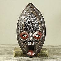 African wood mask, 'Adom Ara Kwa' - Ghanaian Handcrafted Authentic African Mask