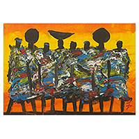 'Economic Stability' - Multi-Color Expressionist Ghanaian Painting