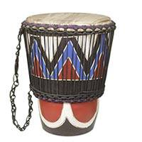 Wood mini djembe drum, 'Ahooden' - Small Decorative Wood Djembe Drum Hand Crafted in Ghana