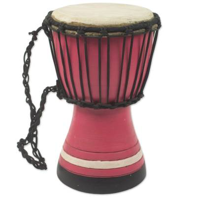 West African Decorative Artisan Crafted Mini Djembe Drum