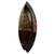 African wood mask, 'Peace Be Unto You' - Ornate Hand Carved African Mask with Embossed Brass (image 2b) thumbail
