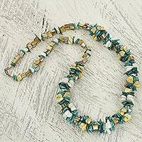 Agate beaded necklace,