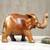 Wood sculpture, 'Cheerful Elephant' - Handmade Wooden Elephant Sculpture from Ghana (image 2d) thumbail