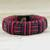 Cord bracelet, 'Red and Black Kente Power' - Red and Black Cord Striped Bracelet Handmade in Ghana (image 2b) thumbail