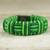 Cord bracelet, 'Bright Green Kente Power' - Green Cord Striped Bracelet Handmade in Ghana (image 2b) thumbail