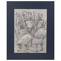 'Dance on the Durbar Grounds' - Mathematical Durbar Festival Original Signed Painting