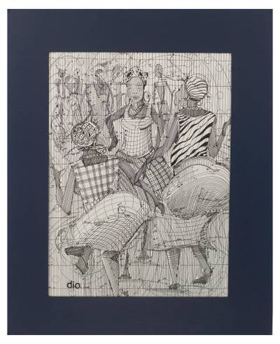 Mathematical Durbar Festival Original Signed Painting