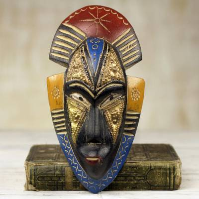 African wood mask, Opeyemi