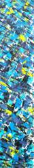 'Freshness' - Teal Abstract Signed Acrylic Painting from Ghana thumbail