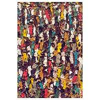 'Ten Thousand Spirits II' - Ghanaian Multicolored Abstract Relief Painting