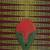 Cotton fan, 'Peaceful Adam Nana' - Cotton and Wood Fan in Green Claret and Marigold from Ghana (image 2d) thumbail