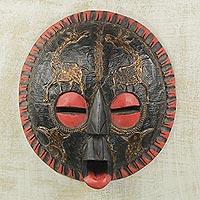 African wood mask Vibrant Kingdom Ghana