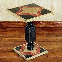 Cedar wood end table, 'Blooming Light' (Ghana)