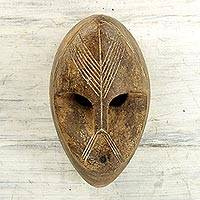 African wood mask, 'Dan Masquerade' - Decorative Hand Carved Wood African Wall Mask from Ghana