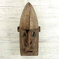 African wood mask, 'Dogon' - Malian Hand Carved Wood Rustic Traditional African Mask