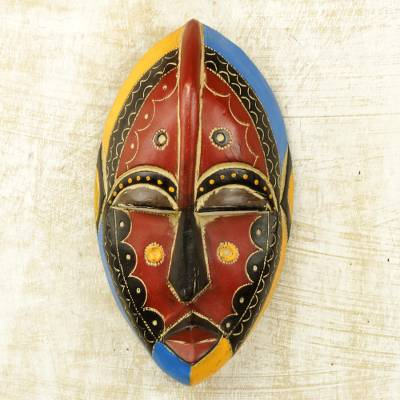 African wood mask, Uzoma