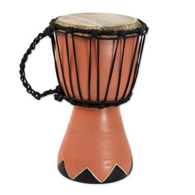 Artisan Crafted West African Mini Djembe Brown Drum