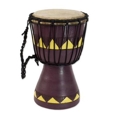 Authentic African Mini Djembe Drum Crafted by Hand