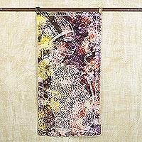 Batik cotton wall hanging, 'Mother's Great Expectation' - Colorful Cultural Batik Cotton Wall Hanging from Ghana