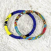 Cotton bangle bracelets,