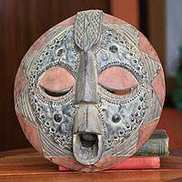 Ghanaian wood mask, 'African Success' - Unique African Wood Mask