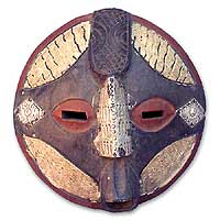 Ghanaian wood mask, 'To Succeed' - African wood mask