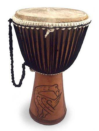 Handmade Wood Djembe Drum