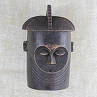African wood mask, 'Baga Ways' - Baga Style West African Wood Mask from Ghana