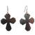 Ebony wood dangle earrings, 'Brown Crosses' - Ebony Wood Cross Dangle Earrings from Ghana (image 2a) thumbail