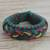 Men's wristband bracelet, 'Adventurer' - Men's Multi-Color Braided Cord Wristband Bracelet thumbail