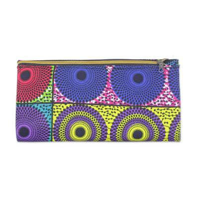 Handmade 100% Cotton Multicolor Clutch Bag Made in Ghana